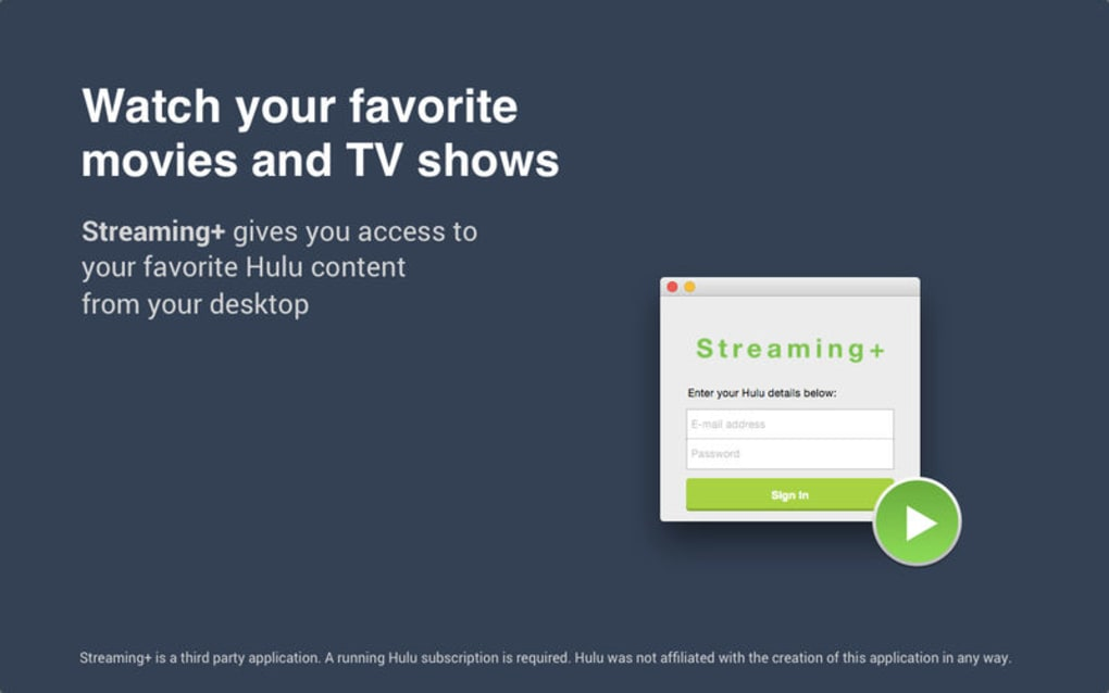 Streaming+: a third party Hulu app for Mac - Download