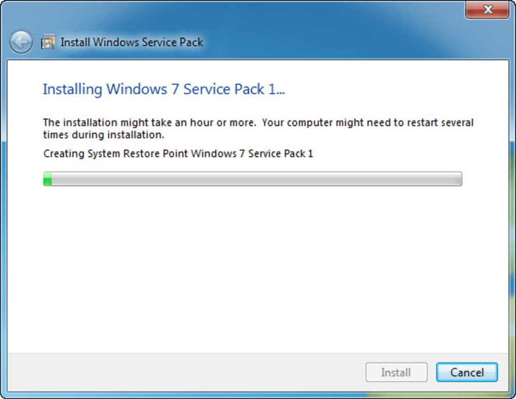Windows 7 Service Pack 1. 1/3 Screenshots