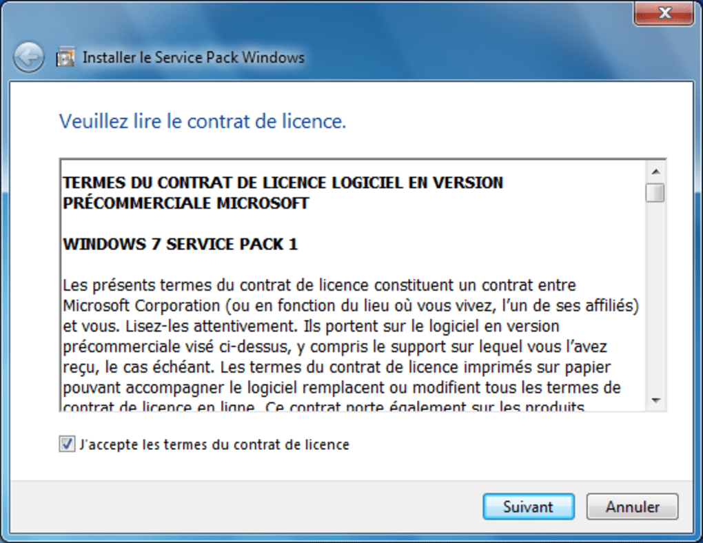 Pack de mises à jour pour Windows 7. Windows 7 Service Pack 1 ...