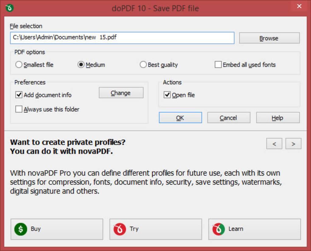 dopdf free download for windows 7 64 bit
