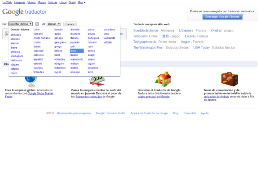 traductor frances español con audio google