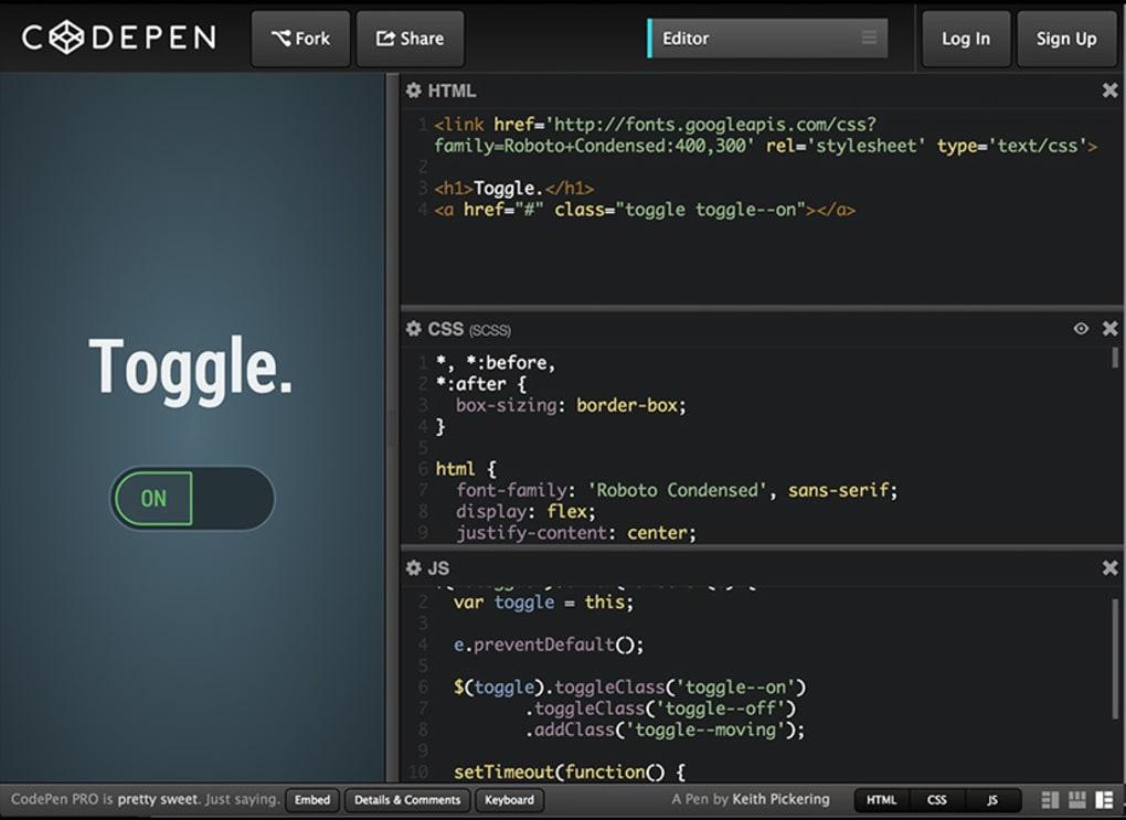 CodePen Online