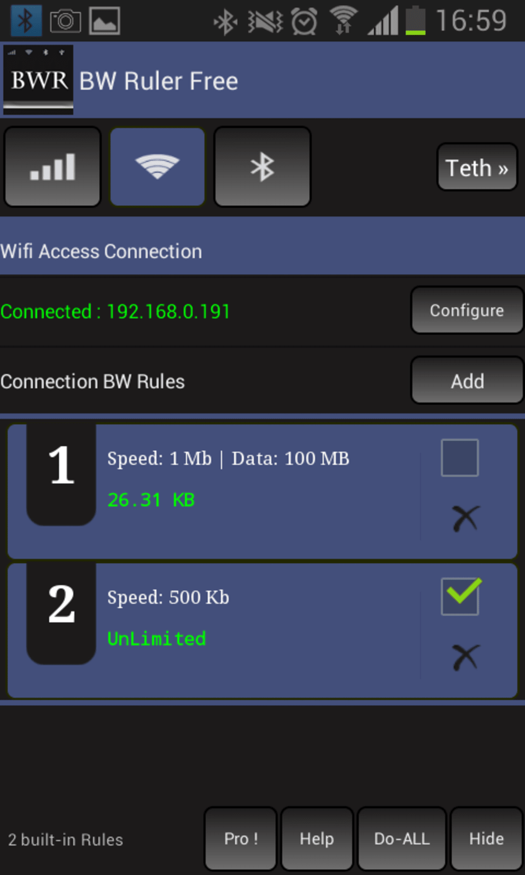 Bandwidth ruler free (Root /Non Root) for Android - Download