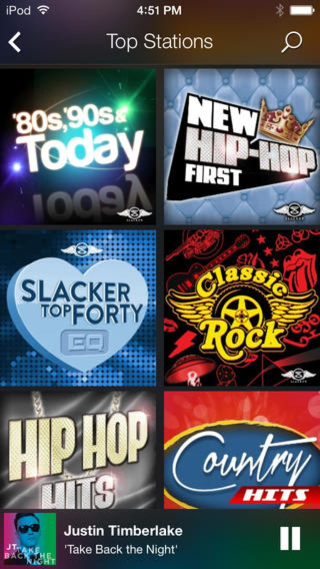 Slacker Radio for iPhone - Download