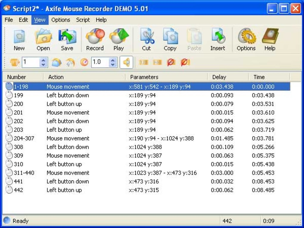 axife mouse recorder demo 5.01