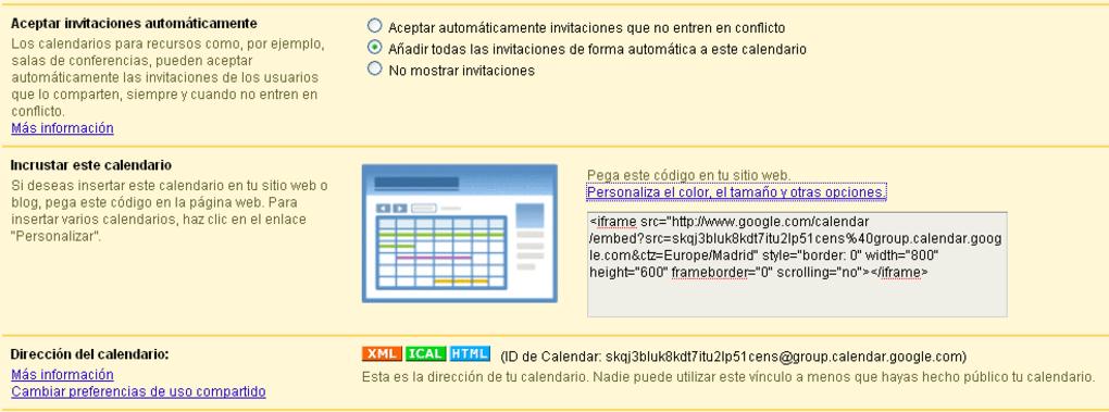 Html Calendario.Google Calendar Online
