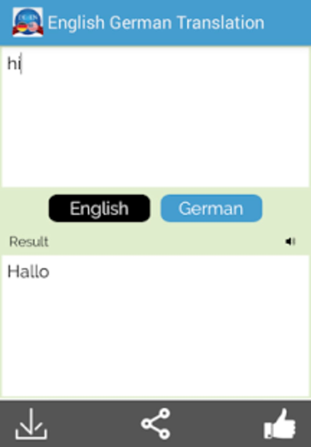 German English Translator