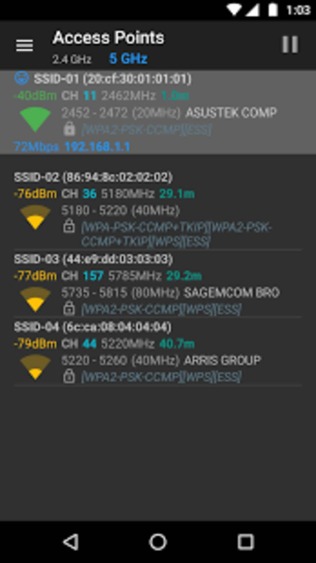 Wifianalyzer open source pour android t l charger - Telecharger open office pour tablette android ...