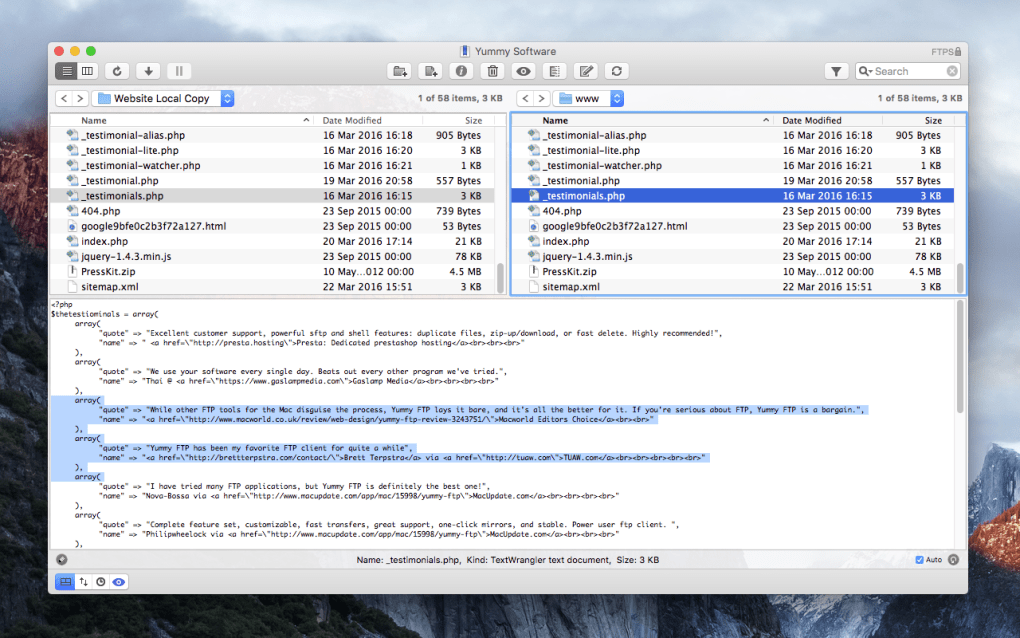 Yummy FTP for Mac - Download