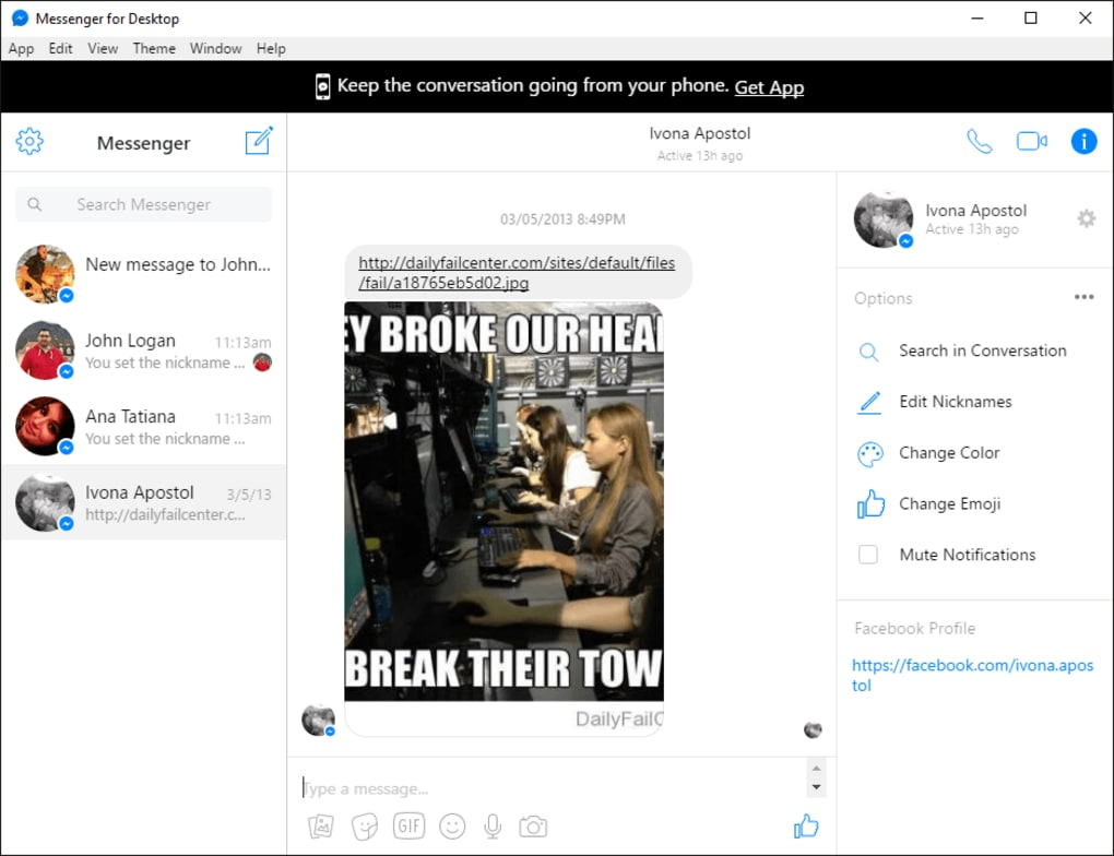 download messenger facebook windows 10
