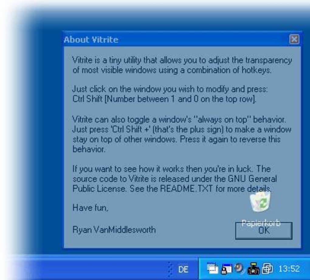 Vitrite download for Fenster immer im vordergrund