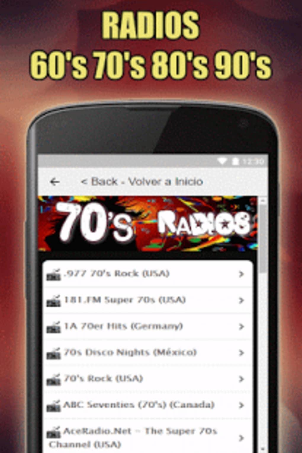 Oldies 60s 70s 80s 90s Radios Retro radios Free for Android