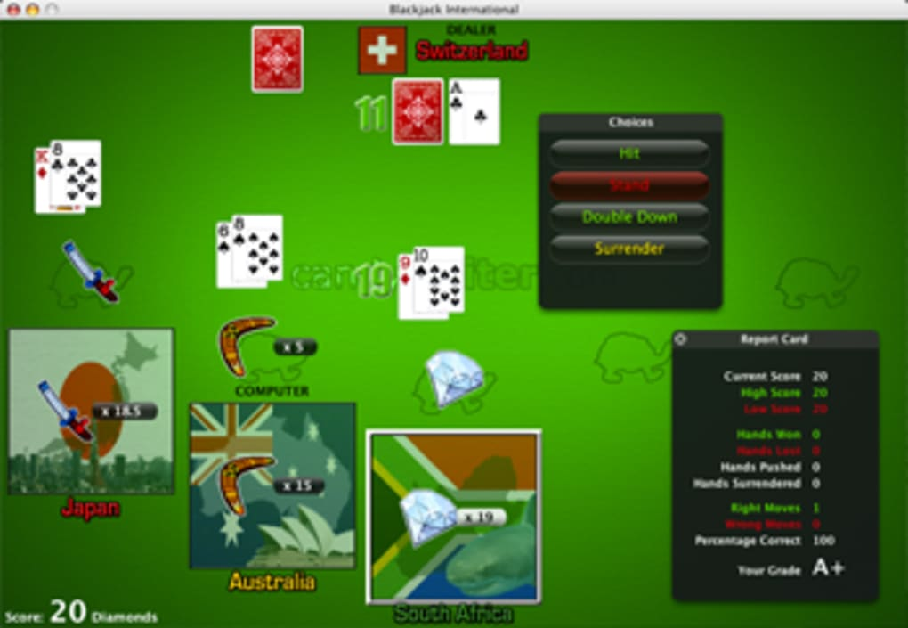 Blackjack dealers tips