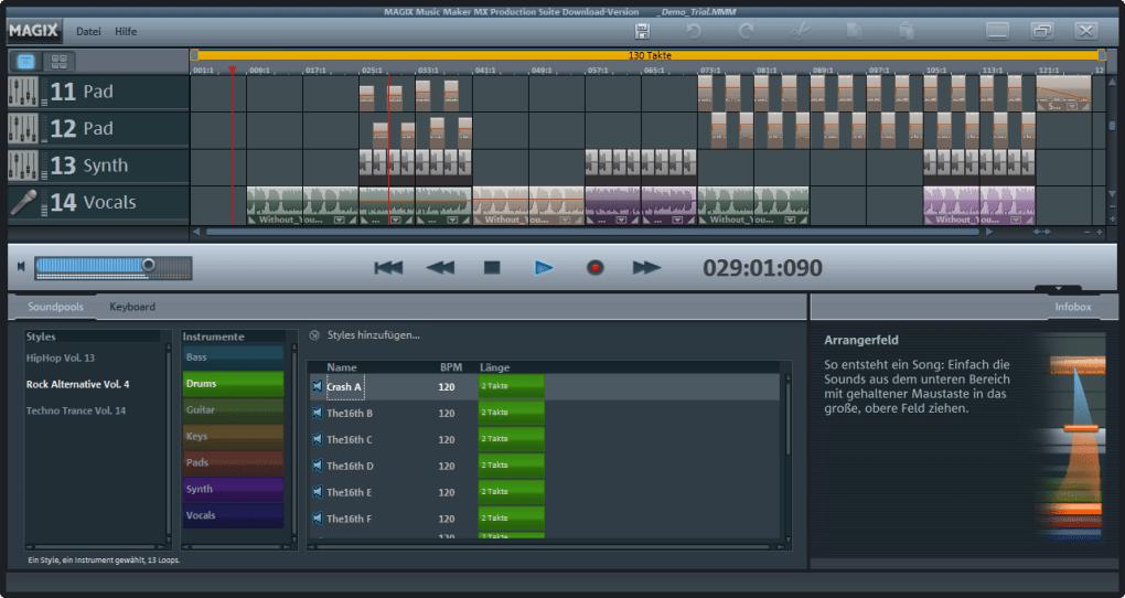 magix music maker testversion mac