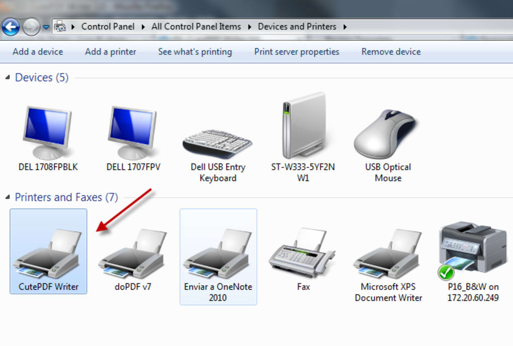 cutepdf printer free download windows 7