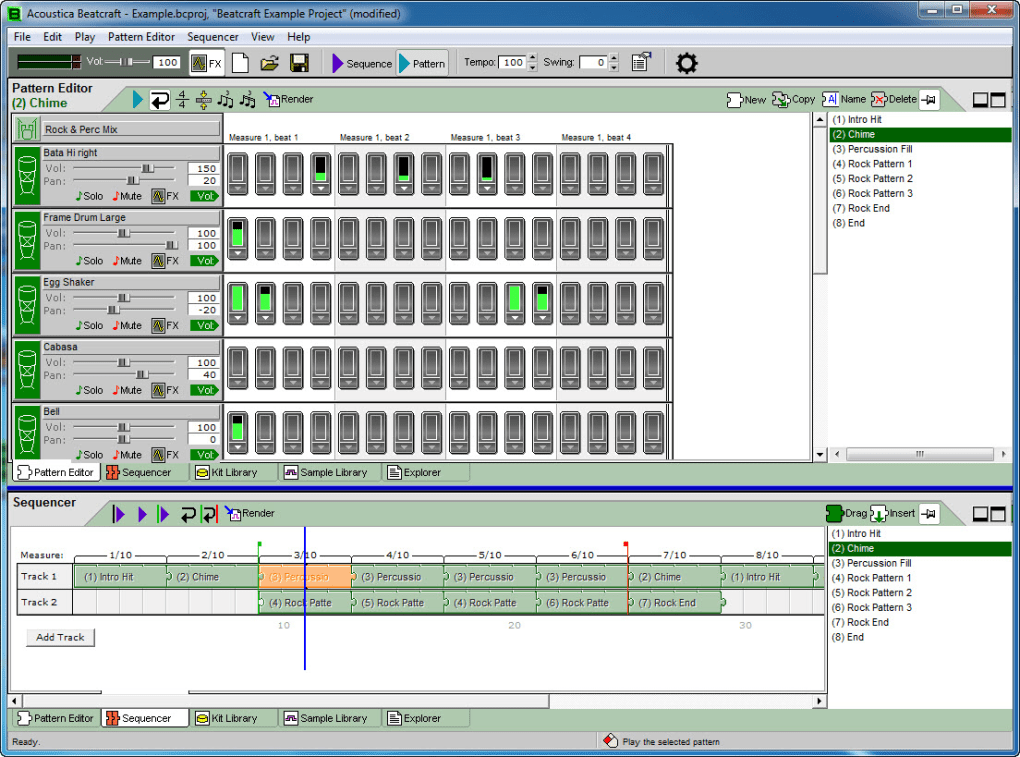 A feature packed and powerful drum machine software