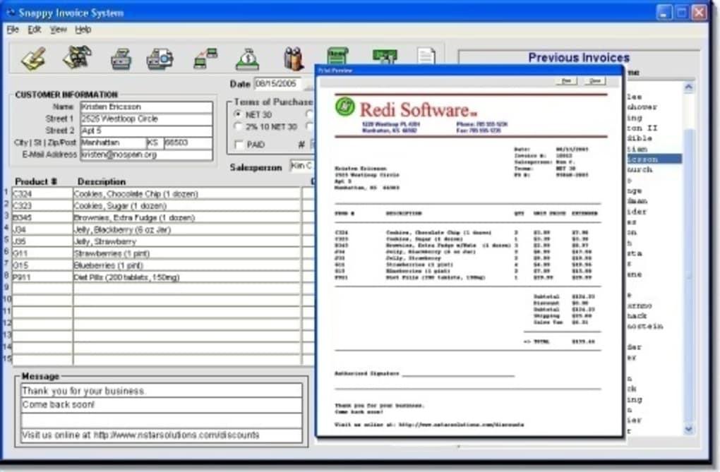 snappy invoice system