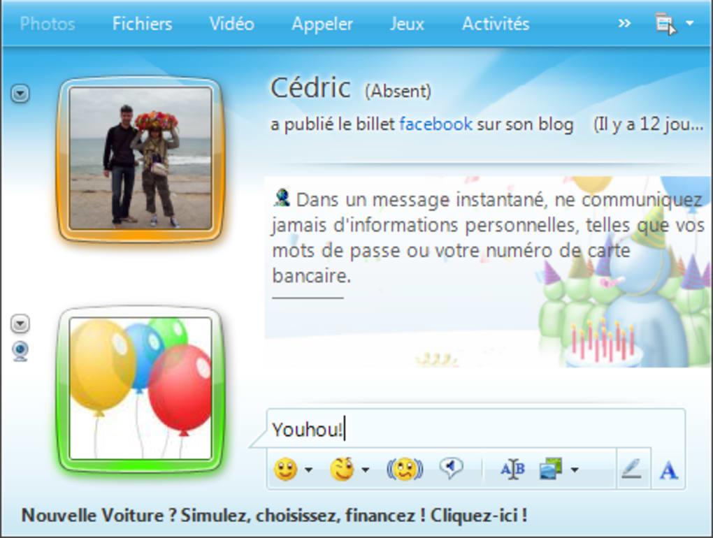 Windows Live Messenger Pack 10ème anniversaire (Windows