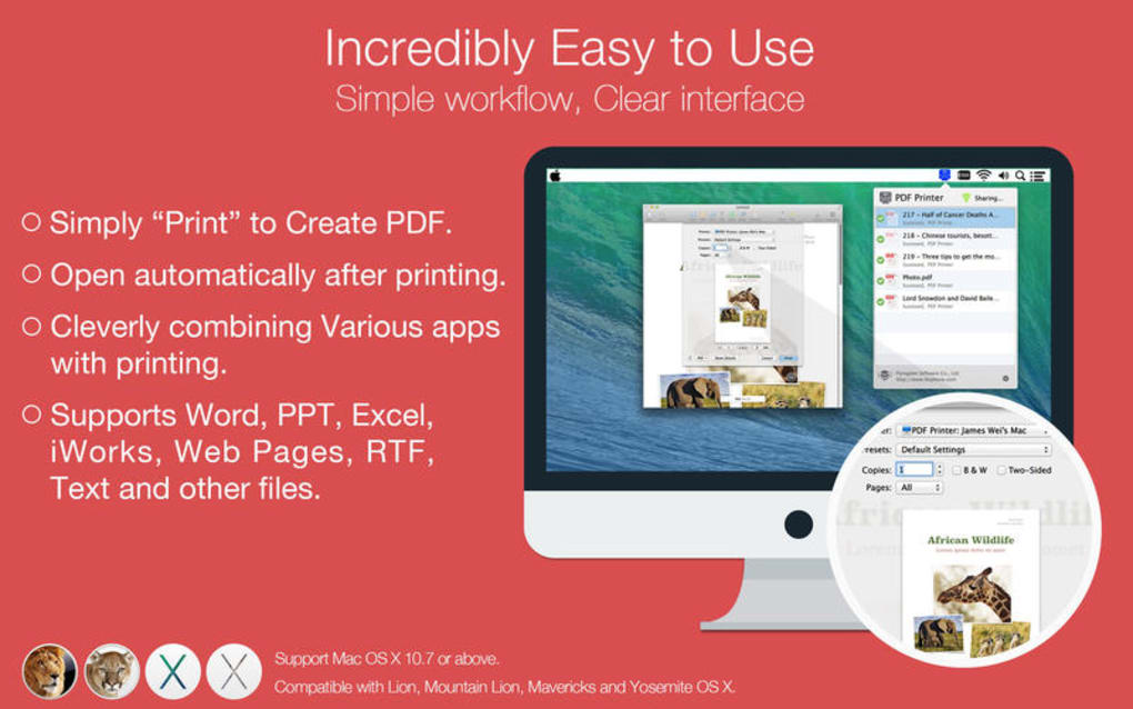 PDF Printer Lite for Mac - Download