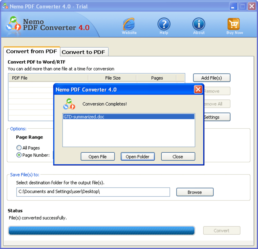 Nemo PDF Converter - Download