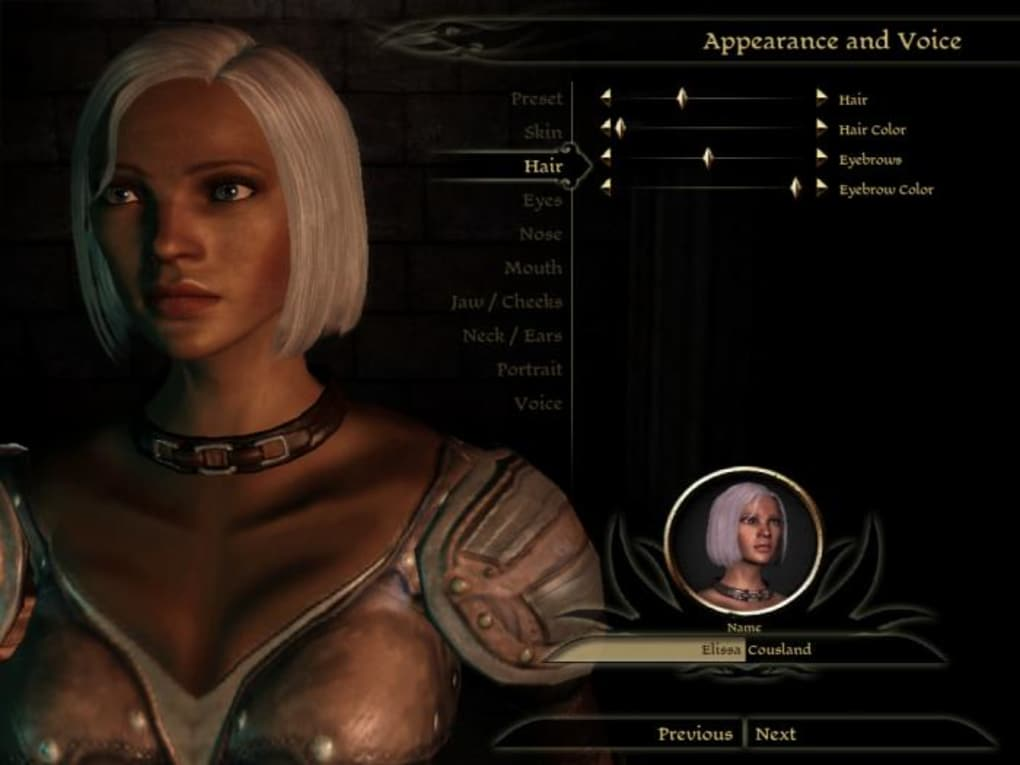Dragon Age: Origins Character Creator - Download