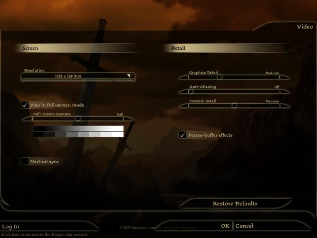 Dragon Age: Origins Character Creator - Download