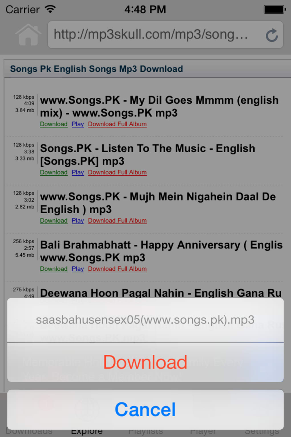 free mp3 downloader music player for iphone download
