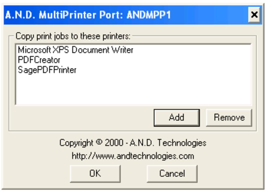 multiprinter port