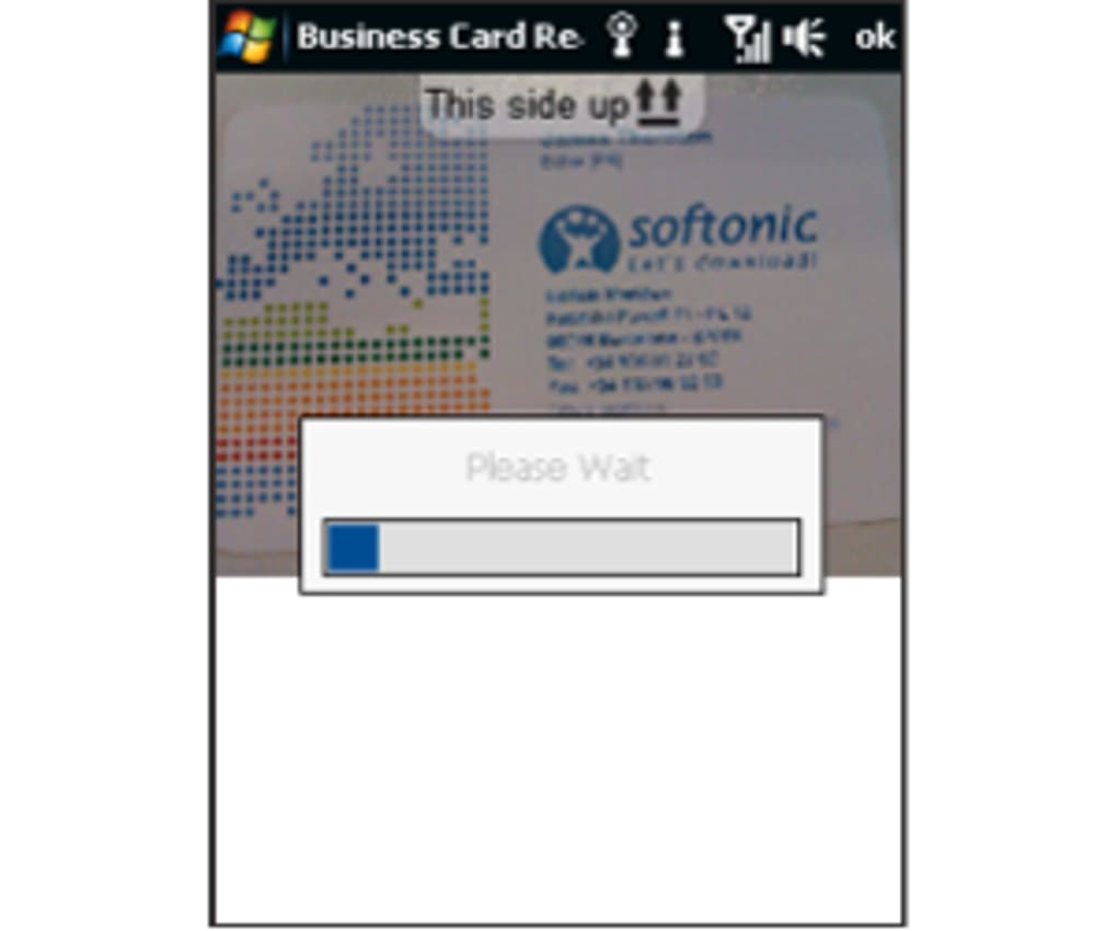 Business Card Reader For Pocket PC