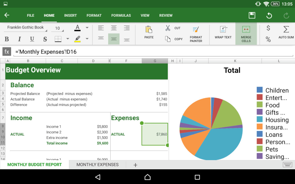 OfficeSuite 8 for Android - ダ...