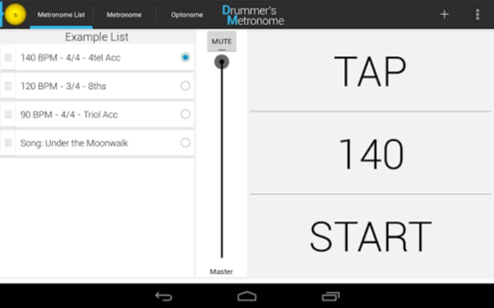Drummer's Metronome for Android - Download