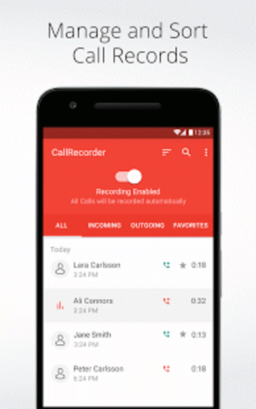Automatic Call Recorder for Me for Android - Download
