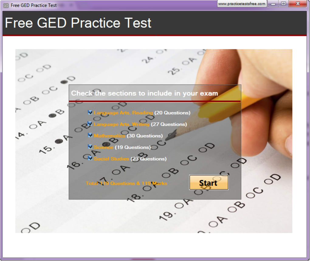 Free GED Practice Test. 1/1 Screenshots