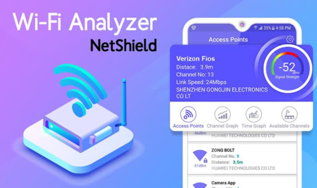 NET SHIELD - WiFi Analyzer Internet Speed Test for Android
