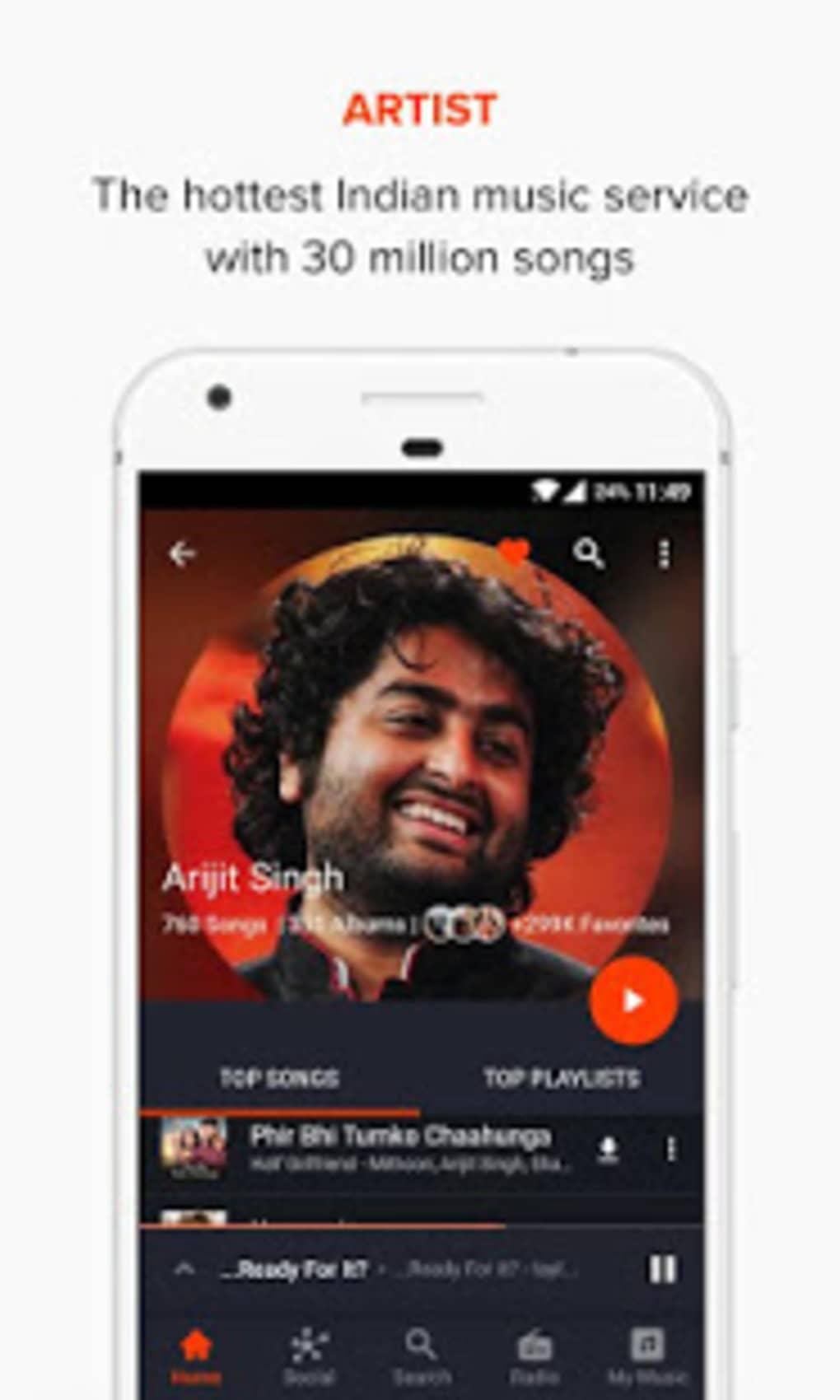 Android Için Gaana Music Bollywood Songs Radio Indir
