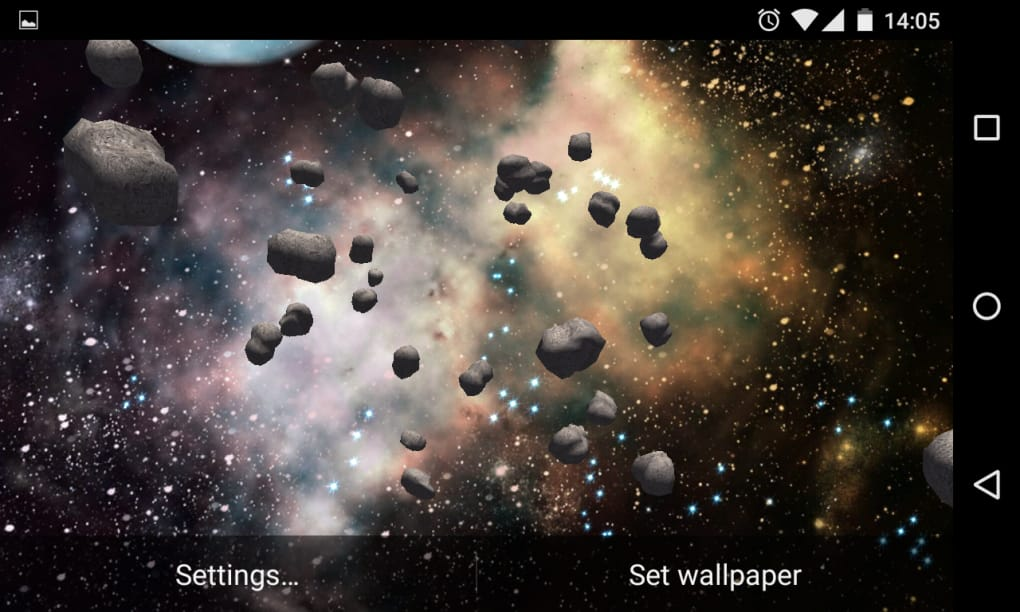 3d Asteroids Live Wallpaper For Android Download
