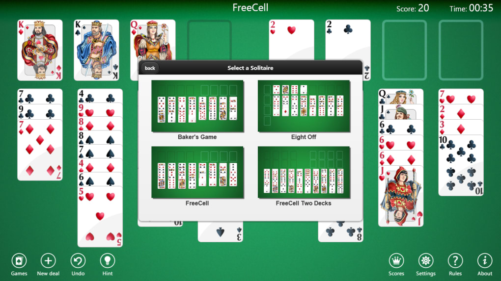 free download freecell card game for mobile