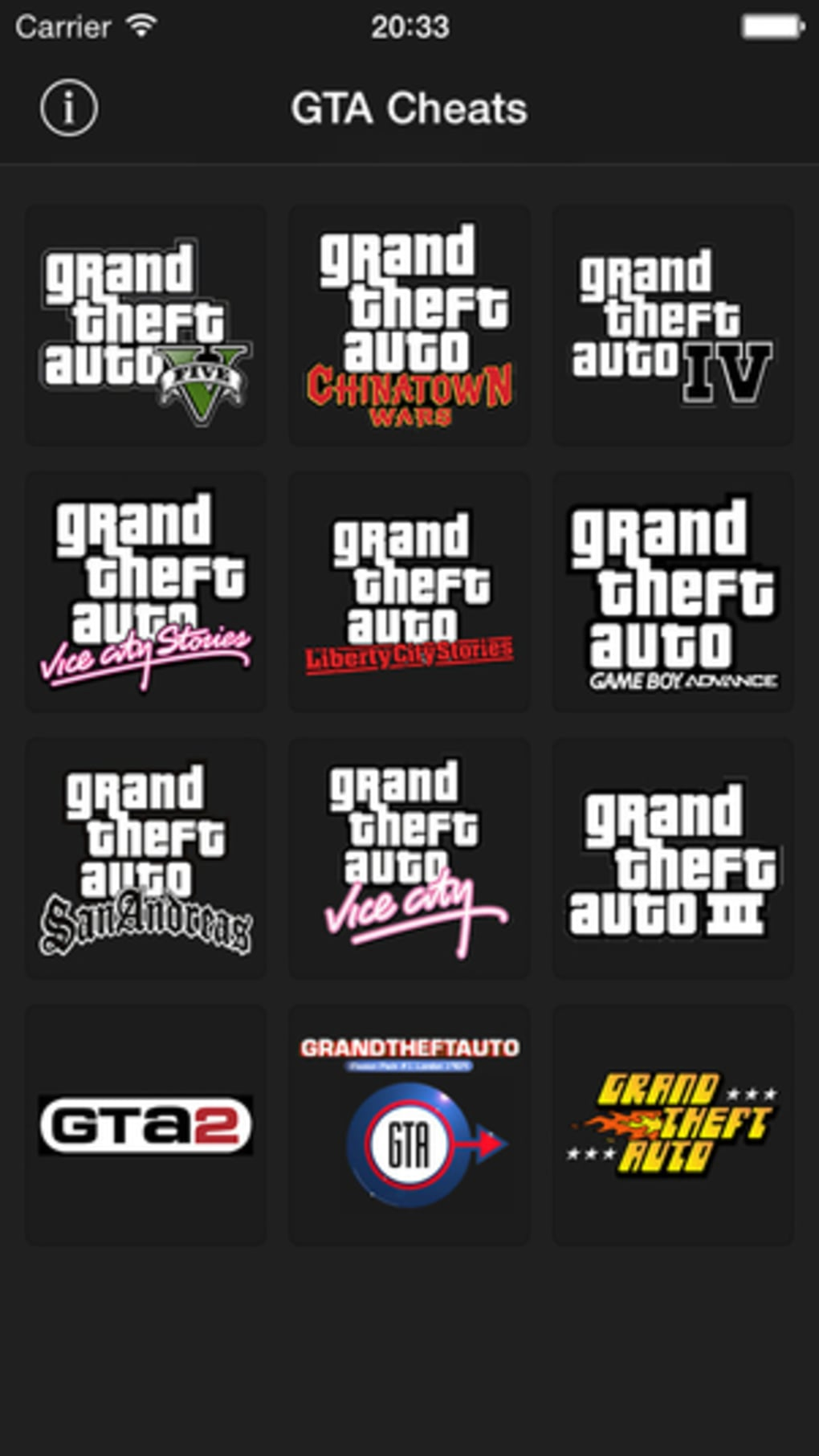 GTA Game Cheats for iPhone - Download