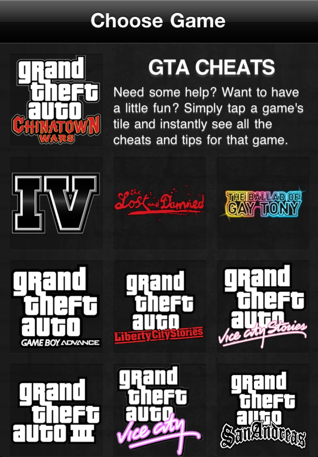 Gta Game Cheats For Iphone Download