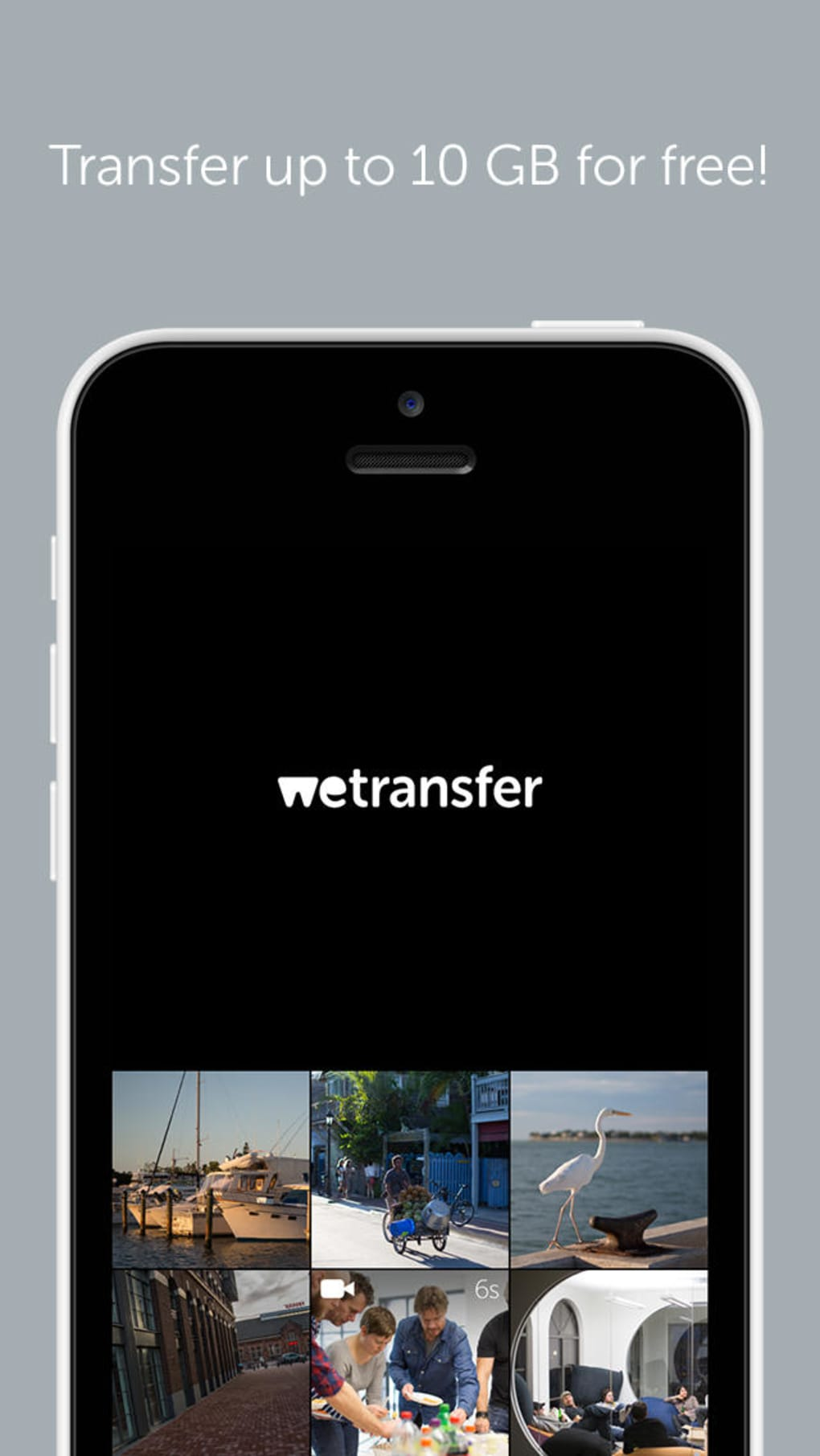 video wetransfer su iphone