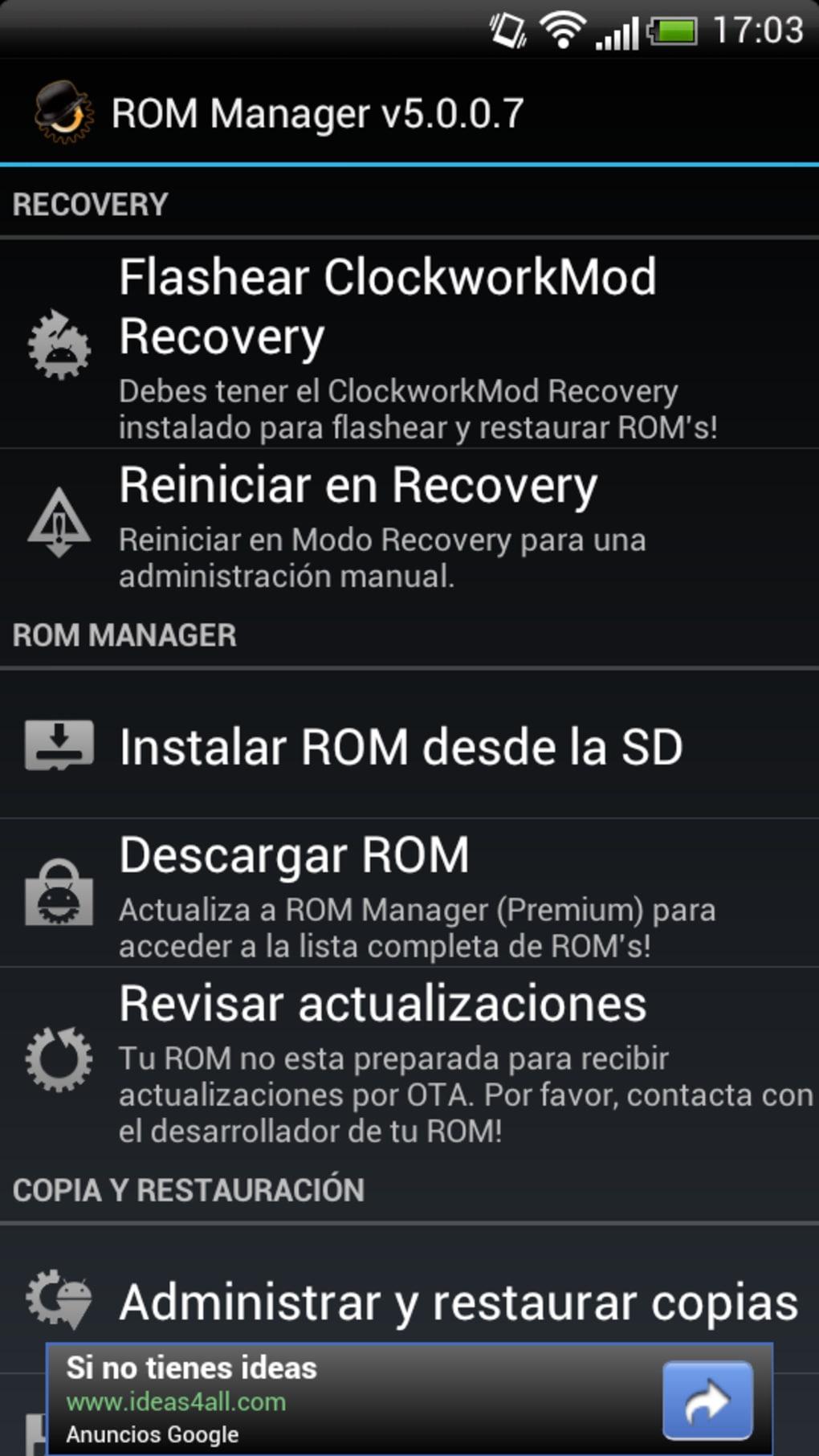 rom manager premium v5528apk на русском