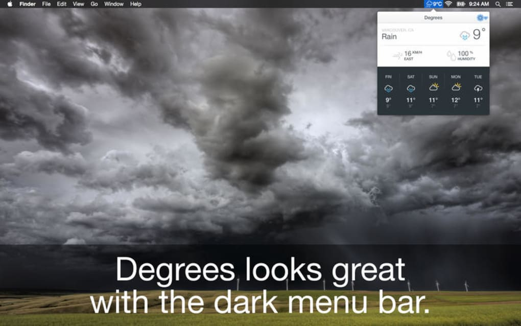 6 wonderful weather apps for mac, most of them free.