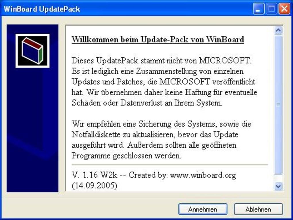 Inoffizielles Update-Paket für Windows 2000 (Windows) - Download