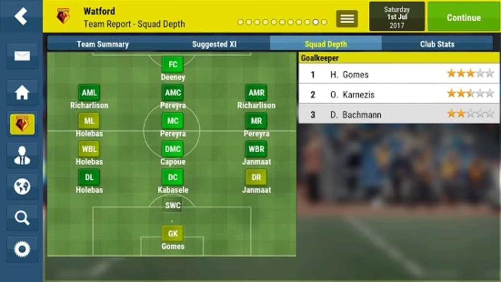 football manager 2018 android free download