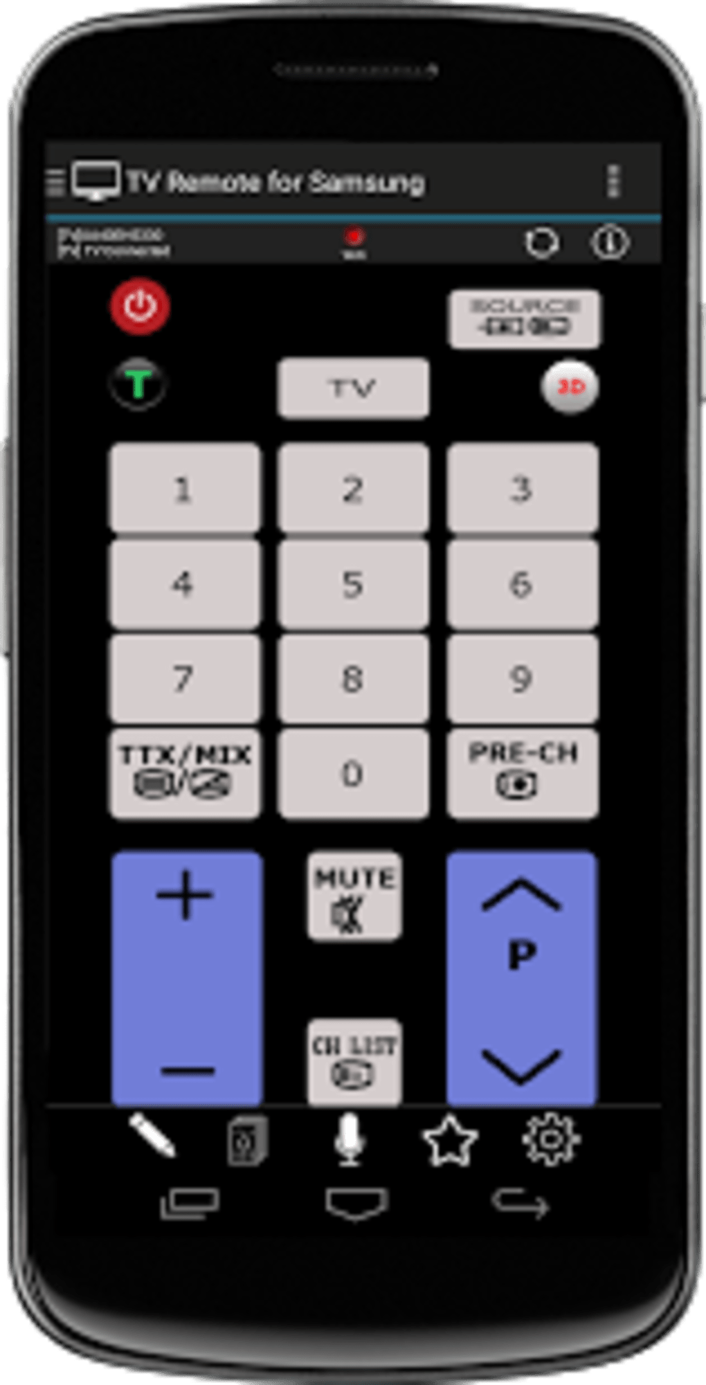 TV Remote for Samsung Smart TV Remote Control for Android