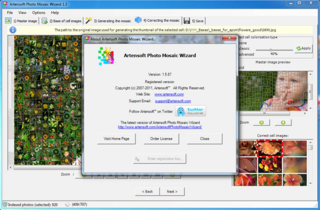 artensoft photo mosaic wizard 1.8