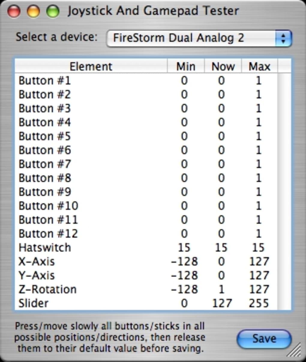 Joystick And Gamepad Tester para Mac - Descargar