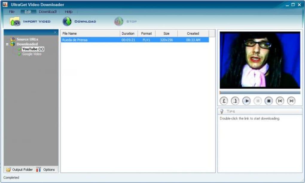 VIDEO TÉLÉCHARGER DOWNLOADER 2.0.5 SPEEDBIT