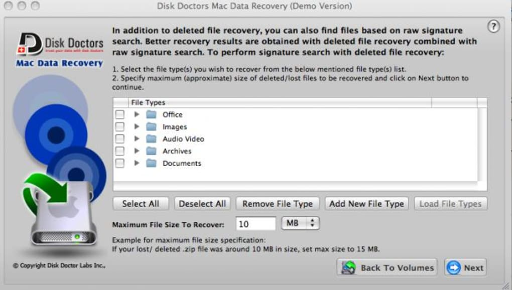 disk doctor photo recovery mac