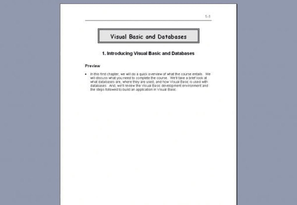 Visual Basic and Databases - Download